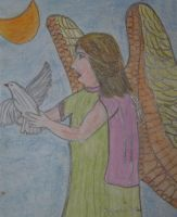 The angel of peace by ingeline-art