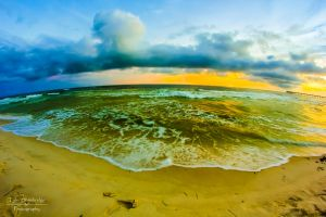 Wide Angle Beach Sunset by SparkVillage