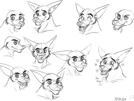 Tiny the tiger sketches by Kaicoyote