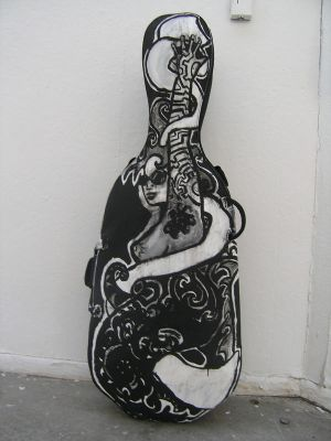 Rock Star Cello Case by jadedsquirrel