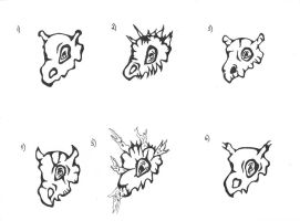 Cubone concept skulls by OneOfLifesMysteries