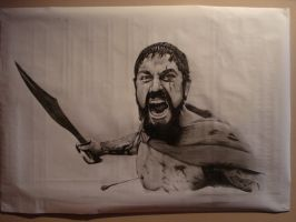 Leonidas from 300 by vinyo