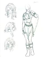 Character Sketch - Shaman by Morgaine-le-Fay