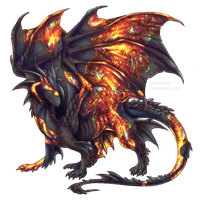 Day 8 - Fire opal dragon by BronzeHalo