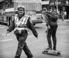 Happy Cop and Skater by niklin1