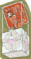 Chell in the Box by Gojiro7