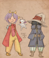 FF IX Eiko, Mog, and Vivi by LeviathanTheLast
