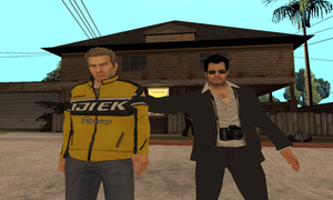 Frank West and Chuck Greene in GTA SA by SOLIDCAL