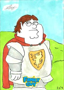 Family Guy colored sketch card - 74 by KBustAMove