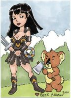 Xena with Koala by beckadoodles