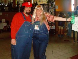 Persacon 2009 - Mario and Cute by foreverwhiteknight