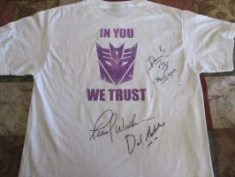 autographed t-shirt back by BDixonarts