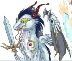 holy dragon of swords by Xnessax