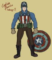 Captain America Redesign 2 by genesischant