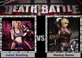 Death Battle (Fan)-Juliet Starling vs Harley Quinn by XPvtCabooseX