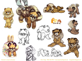 Pomeranian Character Design pg2 by kimchii
