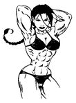 Lara with muscles by Ritualist