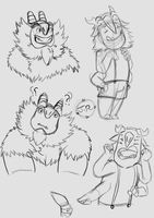 Trollhunters practice sketches by JRdraws