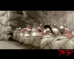 300 spartans in phalanx by The-Ataru-Master