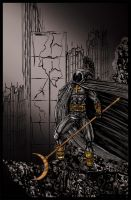 Moon Knight Gold Inked by albiemo