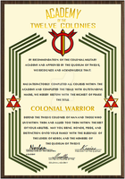 Colonial Warrior Certificate 2 by ZFShadowSOLDIER