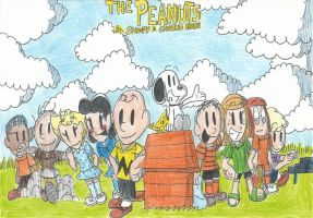 The Peanuts with Snoopy and Charlie Brown! by FelixToonimeFanX360