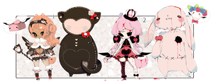 [OPEN+EXTRA] SPECIAL AUCTION216-Valentine Plushies by Piffi-adoptables