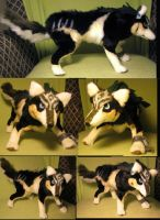 Zelda Twilight Princess Link Wolf Plush Toy by Jarahamee