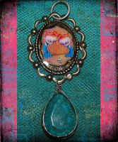 Cupcake Twins Pendant by asunder