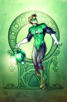 Green Lantern Nouveau by martinacecilia