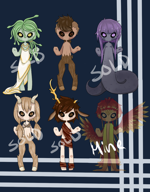 Greek Myth adoptables (CLOSED)