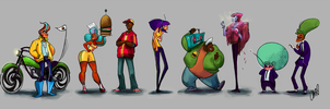Burger Line Up by soul-rocketeer