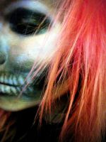 Half skull make up 2 by ParadizeLily