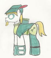 Green Arrow pony- Comic style. by The-rogue-shadow