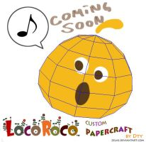 papercraft locoroco wip by zelas