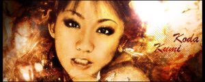 Koda Kumi in fire by rellik1990
