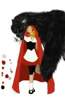 Little Red Riding Hood Concept 1 coloration by Katiefrog217
