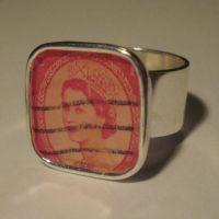 British Stamp Queens Head Ring by hevic