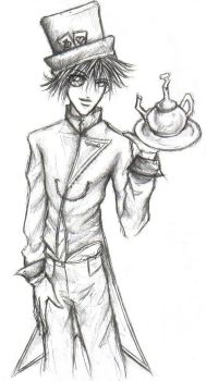 Drawing of the Mad Hatter by tairamika