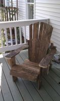 recycled adirondack chair by Lioness123