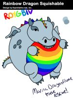 Rainbowdragon design for Squishable.com by Mdragonflame