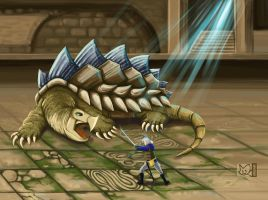 Land Turtle (Final Fantasy 3 boss) by shizonek