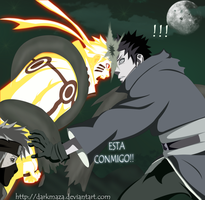 naruto,kakashi y Obito.. fight! by DarkMaza