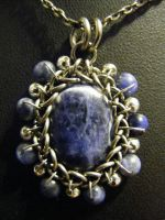 Sodalite and Steel by BacktoEarthCreations