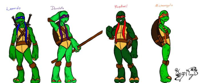 Four Brothers (TMNT) by Kaz-MagicArts