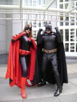 Batwoman and Batman by LennyJava