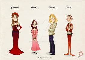Character Design comics Romeo and Juliet by giadina96