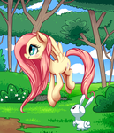 Fluttershy, for my brother by cartoonboyplz