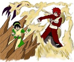 Gaara Vs Toph by CanuFeelit