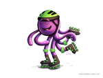 Skating Octopus by KellerAC